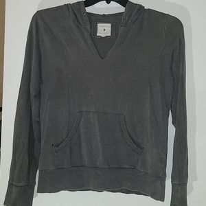 "Forever 21 ""Acid washed"" and worn Dark Gray Hoodie"
